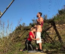 Pagando boquete para o turista ao ar livre