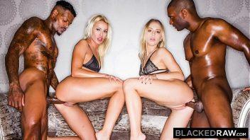 Bucetas de loiras em sexo com os negros