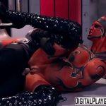 Sexo duro macho come a alien vermelha